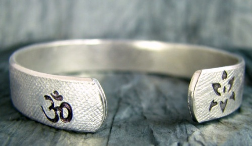 Namaste and Lotus on Etsy Bracelet